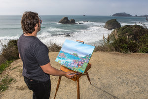 Plein Air Painting Camel Rock