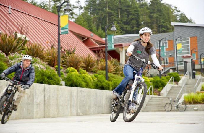 HSU Flickr, Students on Bikes