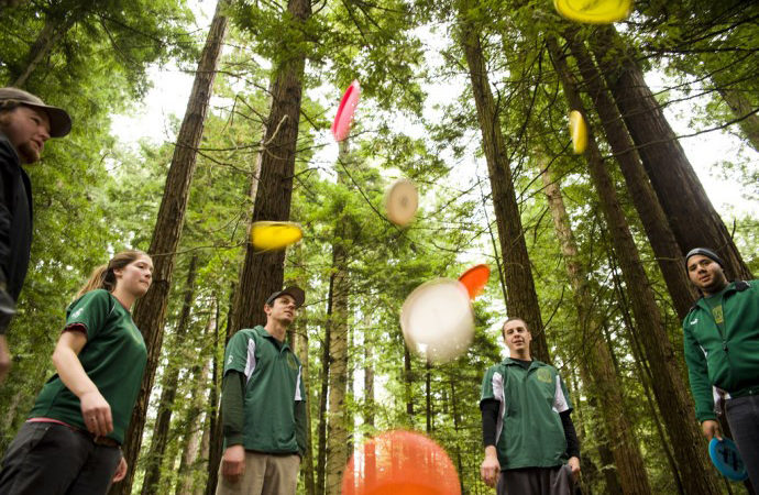 HSU Flickr, Students Take a Frisbee Break