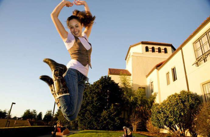 HSU Flickr, Jumping for Joy