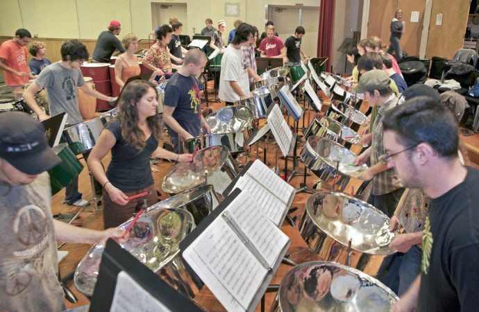 HSU Flickr, Steel Drum Band Practice