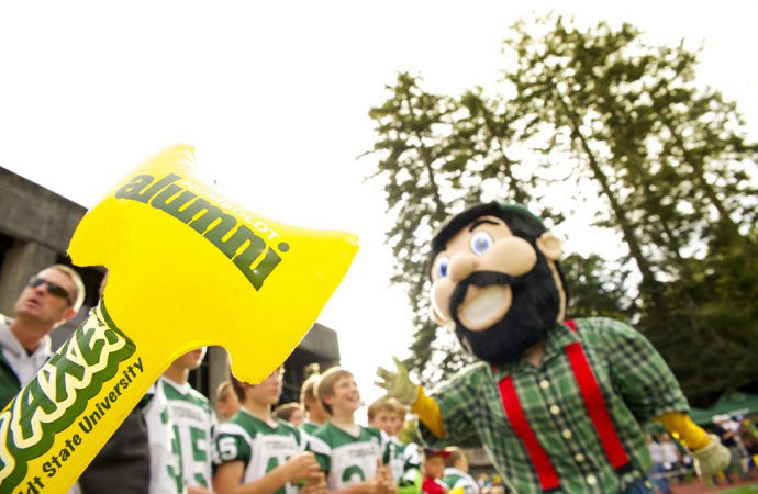 HSU Flickr, Lucky Logger Lumberjacks Football Mascot